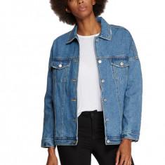 Geaca de blugi dama stil oversized Vero Moda, Albastru, Bumbac, Vero Moda