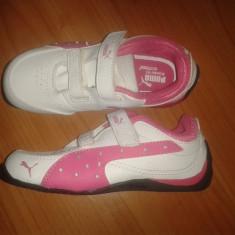 Adidasi copii Puma, masura 26, NOI, Culoare: Alb, Fete