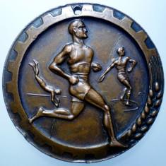 B.367 ROMANIA RPR MEDALIE SPORT ATLETISM CONF. GEN. A MUNCII 1951 50mm - Medalii Romania
