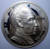 B.372 GERMANIA MEDALIE CANCELAR KONRAD ADENAUER 40mm PROOF, Europa