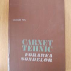 CARNET TEHNIC- FORAREA SONDELOR- GRIGORE TATU