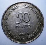 B.635 ISRAEL 50 PRUTA PRUTAH 1949, Asia, Cupru-Nichel
