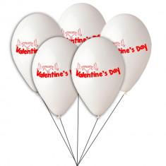 Buchet din baloane latex asortate Valentine's Day, Radar BB.GI.LOVE.WH.T1, Cadouri Valentine`s Day