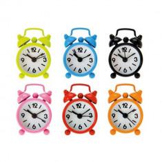 Mini ceas metalic de birou cu alarma - 6 x 4 cm, Radar 79/3071