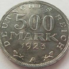 Moneda istorica 500 MARK / MARCI - GERMANIA, anul 1923  *cod 422