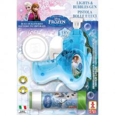 Pistol baloane de sapun cu lumini si sunete Frozen, Dulcop 087000