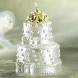 Lumanare aniversara in forma de tort pentru nunta, Amscan 178202, 1 buc