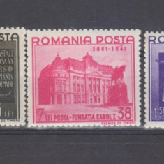 Romania 1941 Fundatia Carol I Nestampilate - Timbre Romania, Regi