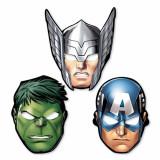 Masti copii pentru petrecere - Avengers, Amscan 360084-55, Set 8 buc - Costum petrecere copii