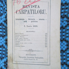REVISTA CARPATILOR 1860 (1 IUNIU 1860 - DISPONIBILE ALTE 5 NUMERE!)