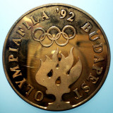 B.377 UNGARIA MEDALIE OLYMPIAFILA 1992 BUDAPESTA SCRIMA 43mm PROOF, Europa