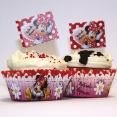 Forma Briose Minnie Mouse, Amscan 995249, Set 48 buc