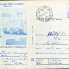 Intreg postal CP 1983,circulat - Muzeul Cailor Ferate Române-Transtainer macheta