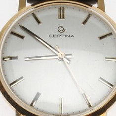 Ceas Aur Solid -18 K - CERTINA - SWISS MADE- SUPERB -Barbatesc Mecanic - Ceas barbatesc Certina, Mecanic-Manual