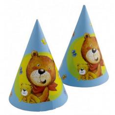 Coif petrecere copii cu Ursuletul Teddy, Amscan 250083, Set 6 coifuri - Costum petrecere copii