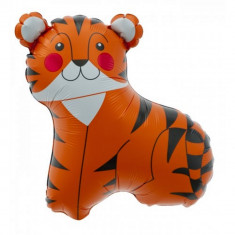 Balon folie mini figurina tigru - 36cm, umflat + bat si rozeta, Northstar Balloons 00602 - Baloane copii