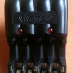 Incarcator acumulatori rapid NI MH Vivanco - Incarcator Aparat Foto Alta