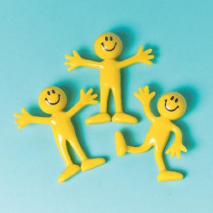 Figurine Smiley Face Galbene, Amscan 390253, Set 12 buc