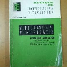 Revista de horticultura si viticultura 1968 numar special vinificatie