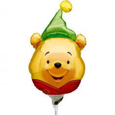 Balon folie mini figurina Winnie the Pooh - Party Hat, Amscan 0969202 - Baloane copii