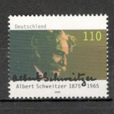 Germania.2000 125 ani nastere A.Schweitzer-medic PREMIUL NOBEL SG.1012 - Timbre straine, Nestampilat