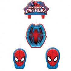 Lumanari aniversare pentru tort figurine Spiderman, Amscan 171355-55, Set 4 buc - Lumanari tort copii