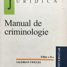 MANUAL DE CRIMINOLOGIE - Valerian Cioclei - Carte Criminologie