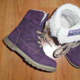Ghete copii mov cu blana, mas 28, BM Footwear Trade Mark