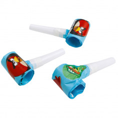 Suflatori pentru petreceri copii - Angry Birds, Amscan 552383, Set 6 buc