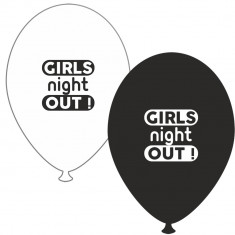 Baloane latex asortate pentru burlacite - Girls Night Out, Radar GI.GNO.BK/WH - Baloane copii