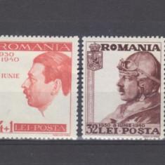 Romania 1940 CAROL II 10 ani de domnie - Timbre Romania, Regi, Nestampilat