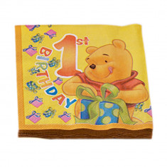 Servetele de masa pentru petreceri 1st Birthday- Winnie the Pooh, 33 cm, Radar 61243, Set 20 buc