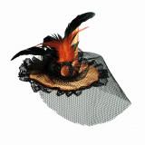 Palarie dama cu voal pentru petrecere Halloween, OOTB 190096, 1 buc
