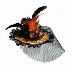 Palarie dama cu voal pentru petrecere Halloween, OOTB 190096, 1 buc - Masca carnaval