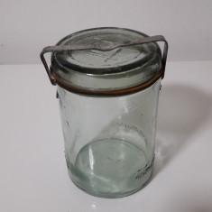 Borcan vechi de sticla FABRICA DE GEAMURI TARNAVENI