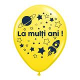 "Baloane latex galbene inscriptionate ""La multi ani!"", Radar GI.LMA.ASTRO.YELLOW"