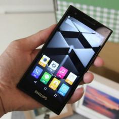 Telefon 4G Philips s396 smartpone Dual Sim cutie originala + incarcator LIBER, Negru, 8GB, Neblocat, Quad core, 1 GB