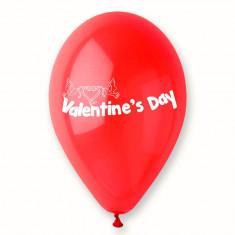"Baloane latex rosii inscriptionate ""Valentine's Day"", Radar GI.LOVE.RED.T1, Cadouri Valentine`s Day"