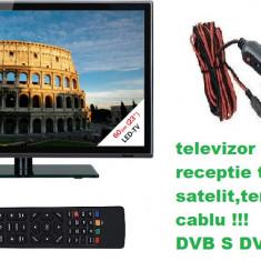 Televizor Tv auto LED FULL HD 60cm SATELIT -12v Auto Rulota Camion Tir Camping