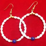 Cercei placati cu AUR 18K si perle de cultura / vintige gold/ perla