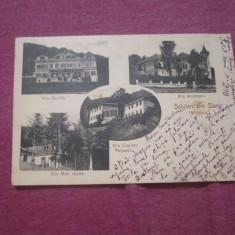 Cp anul 1906 vilele scurtu anastasiu capitan petrescu mon repos slanic moldovac6 - Carte Postala Moldova 1904-1918, Stare: Circulata, Tip: Printata, Oras: Bacau
