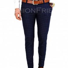 Pantaloni tip ZARA bleumarin - pantaloni barbati - pantaloni office - 7732A, Marime: 29, 31, 33, 34, Culoare: Din imagine