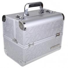 Geanta Cosmetice sau Manechiura Aluminiu Argintie