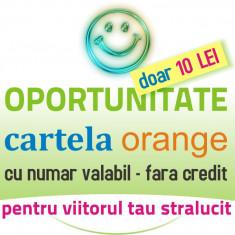 Cartela numar Orange fara credit SIM de primit apeluri mesaje cartele portare - Cartela Orange