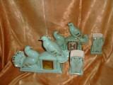 Doua seturi/garnituri Art Deco semineu/birou/sufragerie/biblioteca, vintage