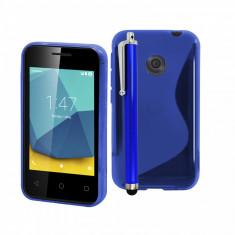 HUSA PROTECTIE VODAFONE SMART FIRST 7 ( VFD 200 ) + STYLUS PEN CADOU - Husa Telefon Vodafone, Albastru, Gel TPU, Carcasa
