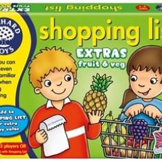 Joc educativ in limba engleza Lista de cumparaturi Fructe si legume orchard toys