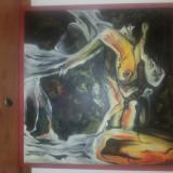 Tablou ulei pe panza 80×80 cm - Pictor roman, Abstract, Avangardism