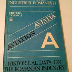 Din istoria industriei romanesti - Aviatia / Aviation - Ed tehnica, 1981 - Carti Transporturi