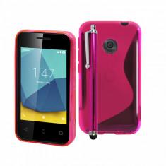HUSA PROTECTIE VODAFONE SMART FIRST 7 ( VFD 200 ) + STYLUS PEN CADOU - Husa Telefon Vodafone, Roz, Gel TPU, Carcasa